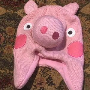Adorable Youth Piggy Knit Flap Hat